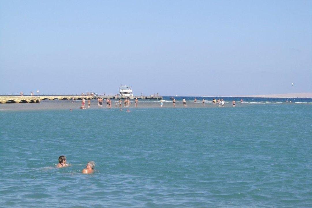 Sandbank bei Ebbe Dana Beach Resort