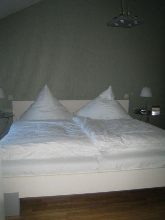 Schlafzimmer der Wohnung Kurt Tucholsky Autorenhaus - Ferienwohnung 16