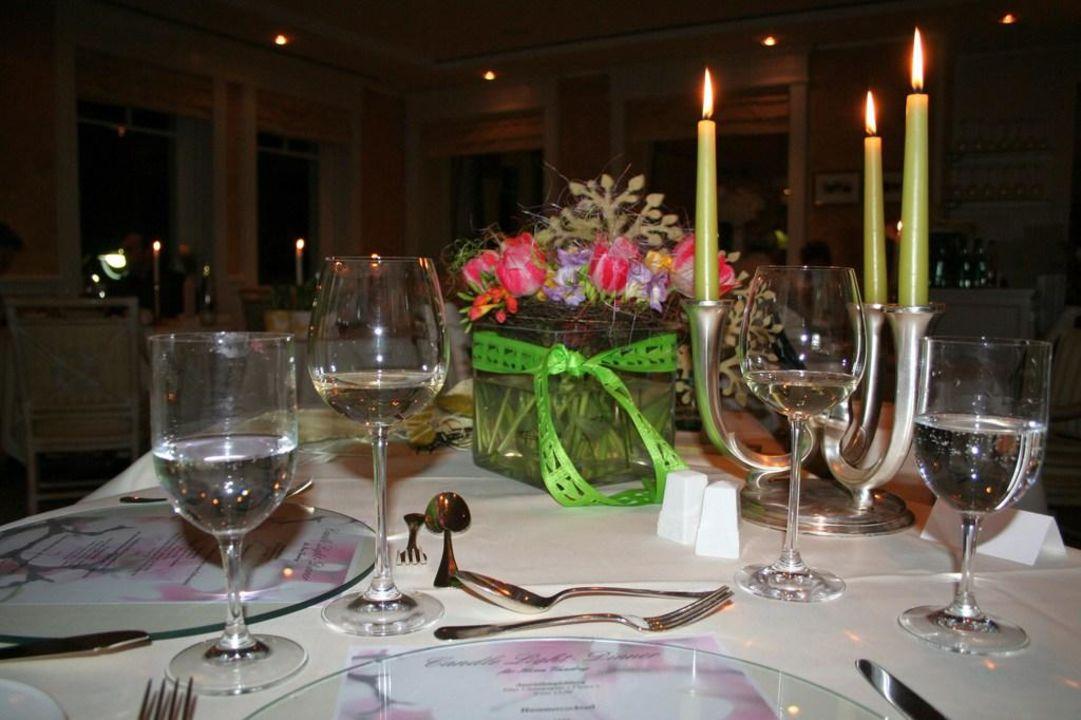 Tischdekoration Candle Light Dinner Hotel Meerlust Ostseeheilbad
