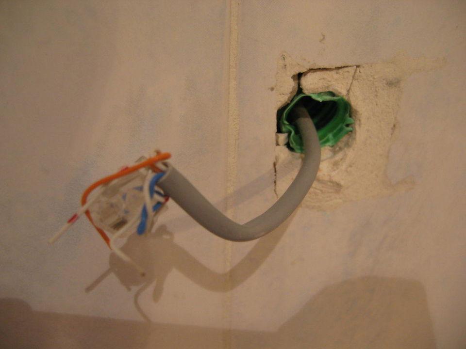 Elektrokabel im Badezimmer Hotel San Vincenzo