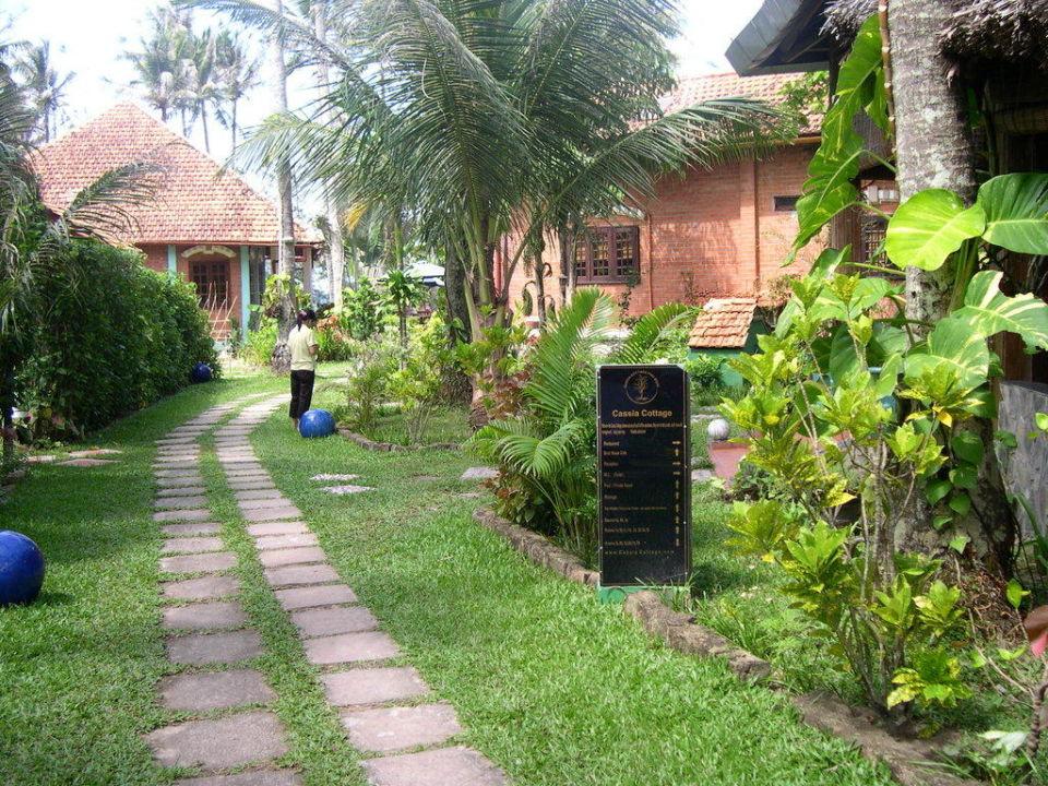 Weg zum Pool Hotel Cassia Cottages