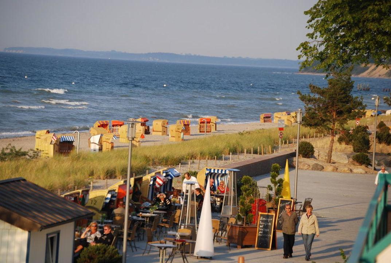 Abendstimmung am Strand Strandhotel Miramar