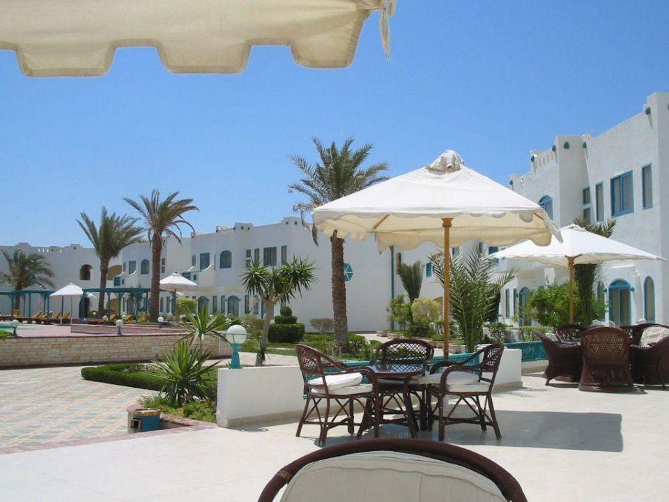 Blick von der Terrasse Hotel Tropicana Nuweiba  (geschlossen)
