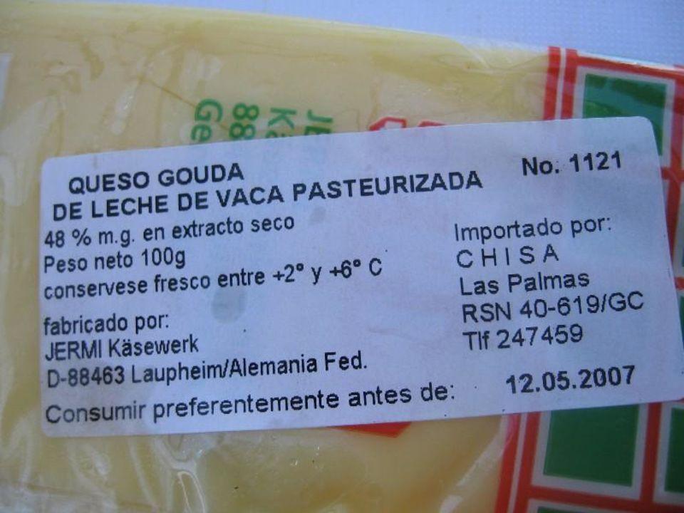 10 Wochen überlagerter Käse im Supermarkt Maspalomas Resort by Dunas