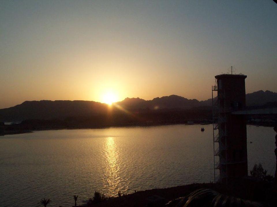 Sonnenuntergang vom Cafe Beach Albatros Resort Sharm El Sheikh (geschlossen)