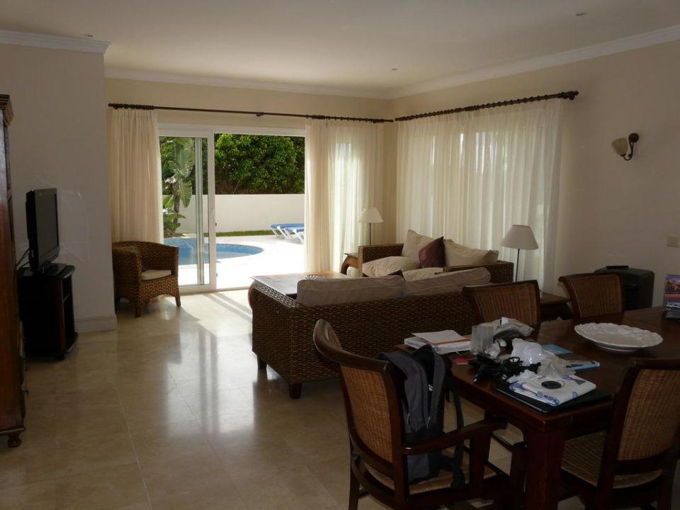 """wohnzimmer mit eßbereich"""" villas & suites alondra in puerto del"""