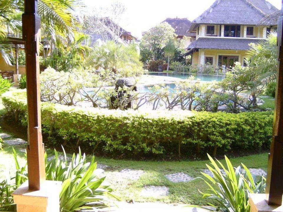 Blick von unserer Terrasse Rumah Bali B&B