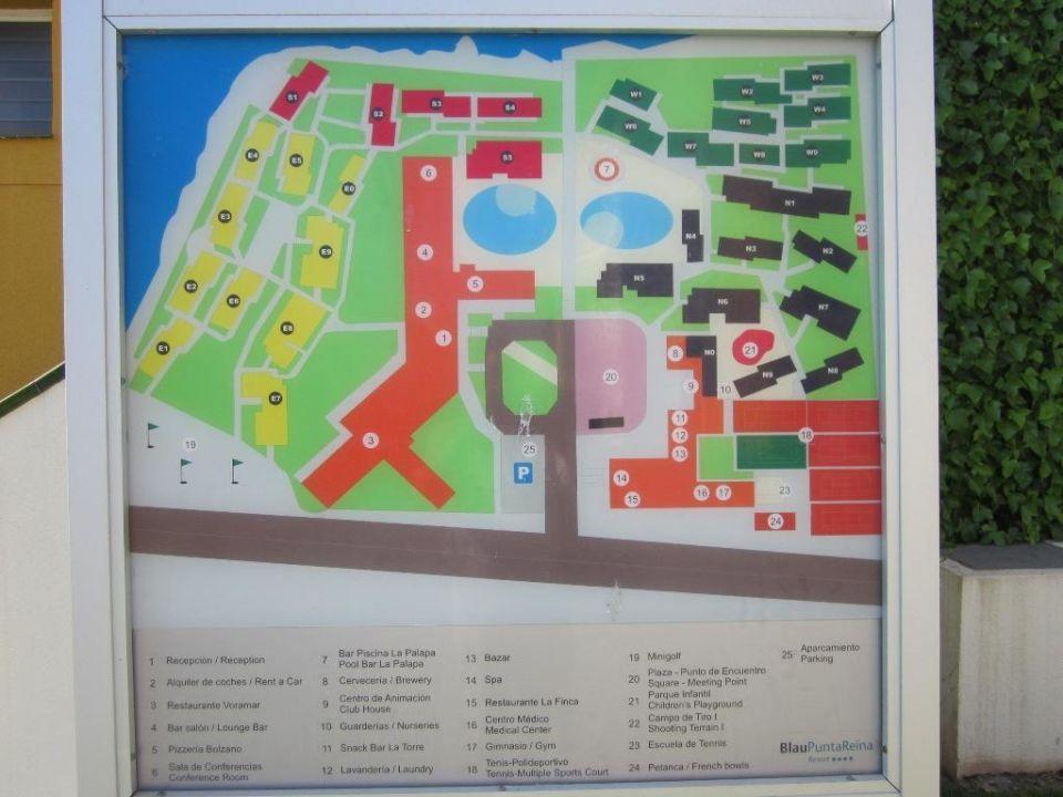 Lageplan Blau Punta Reina Resort Manacor Holidaycheck Mallorca