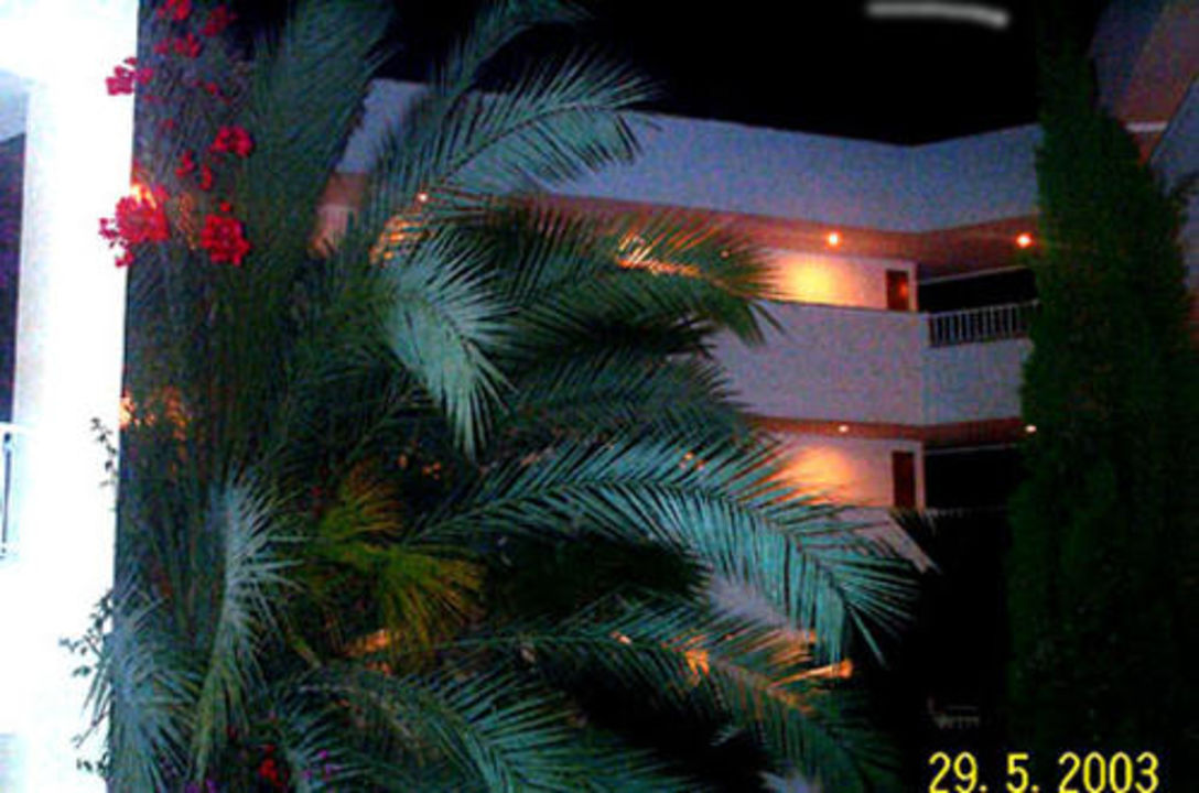 Safaripark by night - Aufgang Innenraum zum Westflügel Protur Safari Park Aparthotel