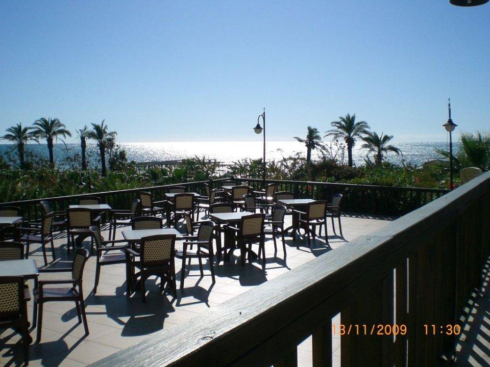 Aussicht beim Essen Arcanus Side Resort