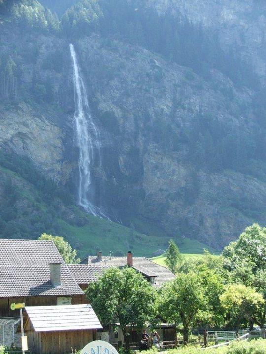 Blick aus dem Fenster Hotel Zirmhof