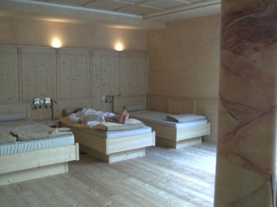 Ruheraum mit Wasserbetten Hotel Alpen Tesitin