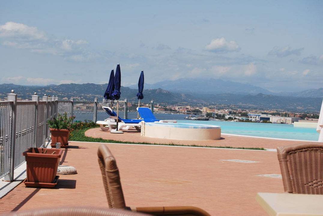 Blick Richtung Pool Alessandro Hotel