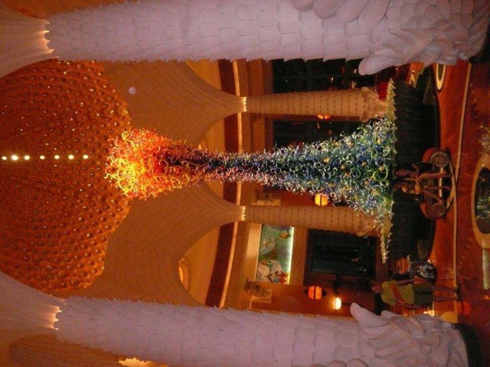 Springbrunnen in der Lobby Hotel Atlantis The Palm