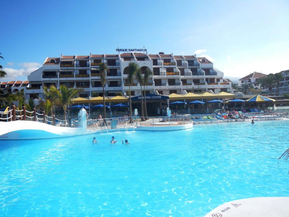 Hotel vom pool aus gesehen apartamentos parque santiago 3 playa de las americas - Apartamentos parque santiago ...