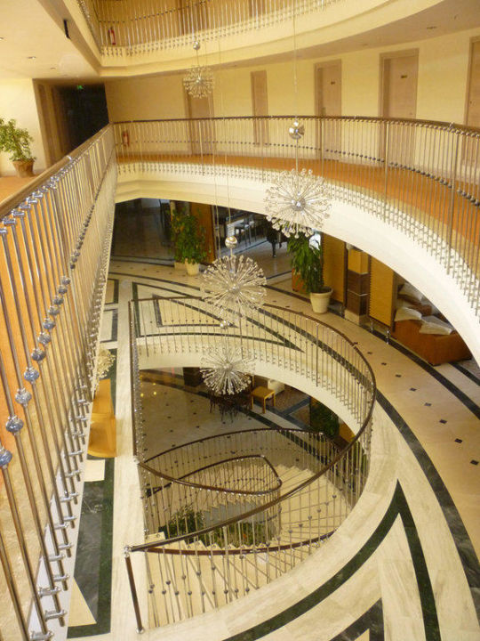 Treppenaufgang zu den Zimmern Hotel Side Star Park