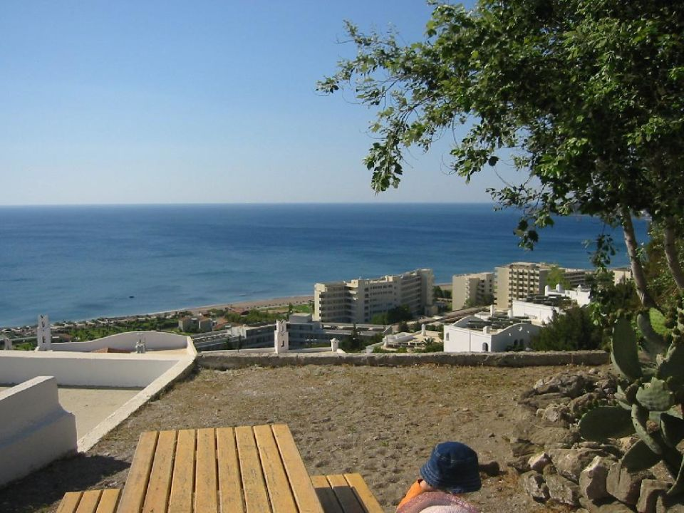 Esperos Village - Rastplatz mit Blick aufs Meer Esperos Village Blue & Spa