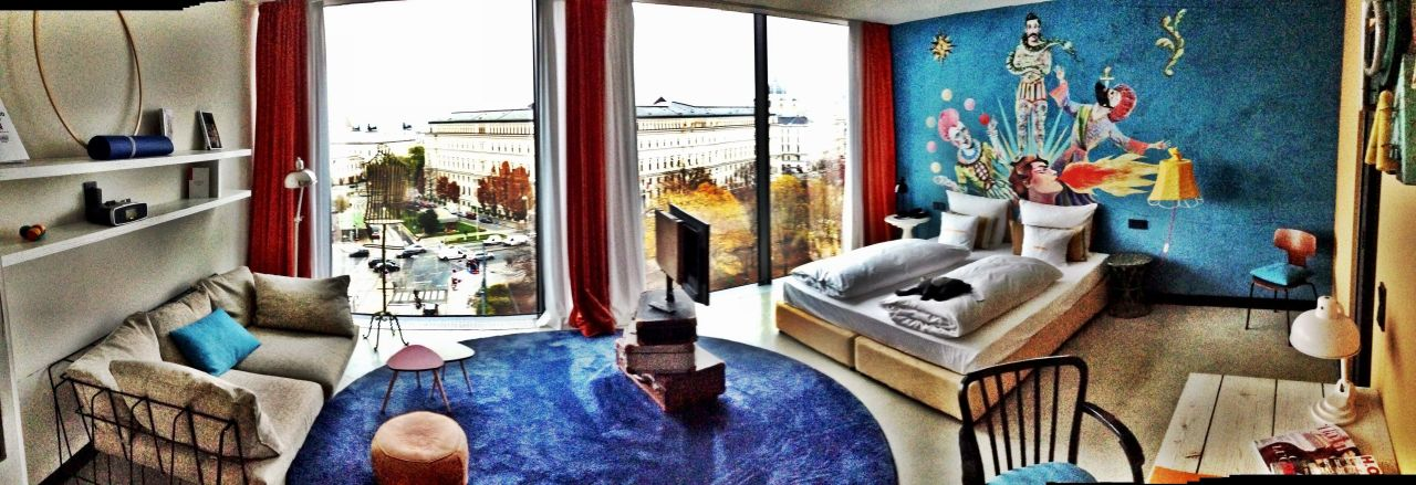 panorama suite 25hours hotel wien beim museumsquartier. Black Bedroom Furniture Sets. Home Design Ideas