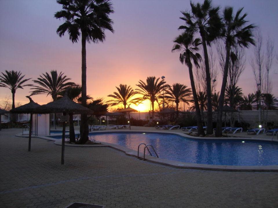 Sonnenuntergang Hotel HSM Golden Playa
