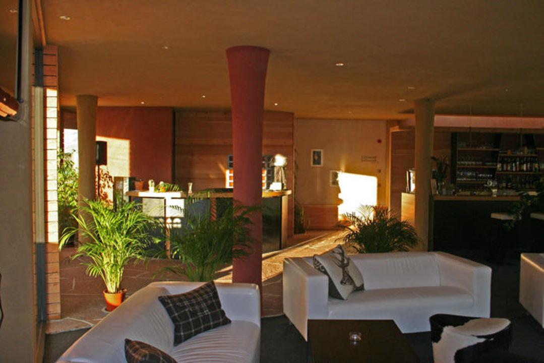 Die Abendsonne an der Rezeption Hotel Diana