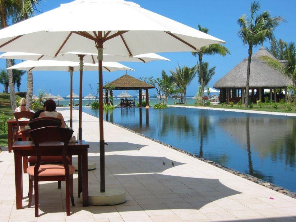 Die Sicht aus dem Hauptrestaurant Outrigger Mauritius Beach Resort
