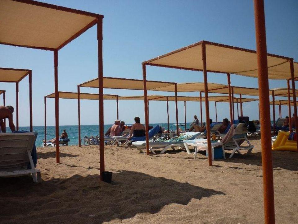 Heerlijk liggen op het strand Maritim Hotel Saray Regency