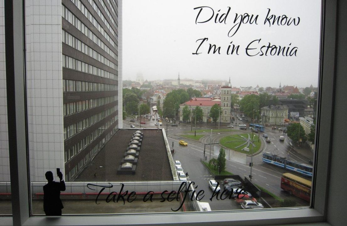 Possibility to take a selfie from 8th floor Solo Sokos Hotel Estoria