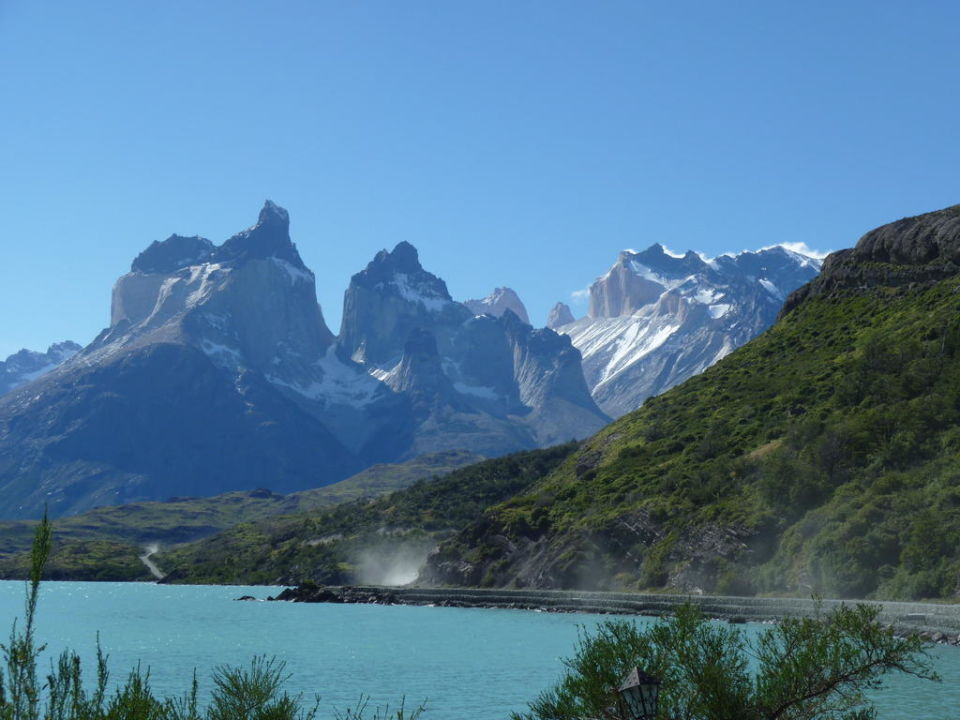 Lago Pehoé und Torres del Paine Hotel Hosteria Pehoe