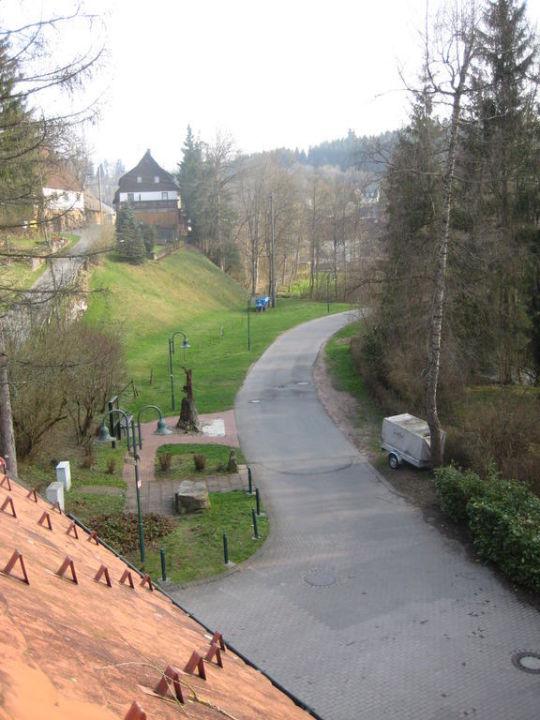 Ausblick von Zimmer 8 Hotel Historische Heimbachmühle