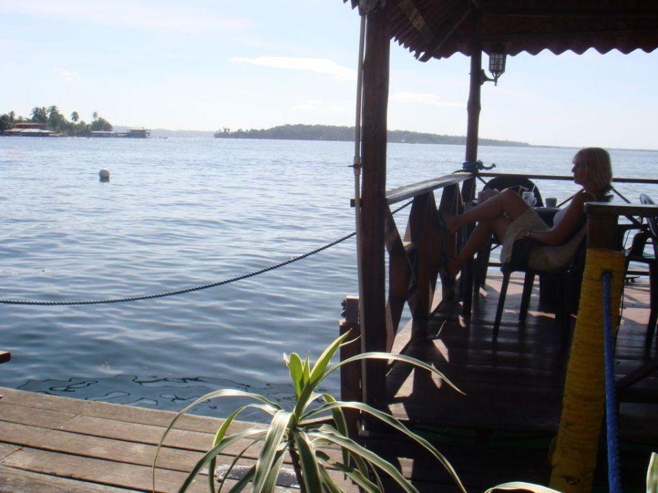 Beim Frühstück im Hotel Hotel Bocas Del Toro