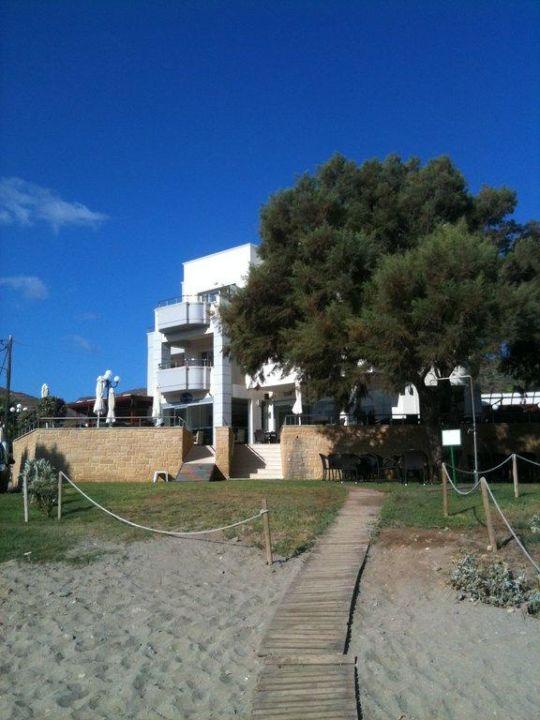 Widok z plaży Hotel Molos Bay
