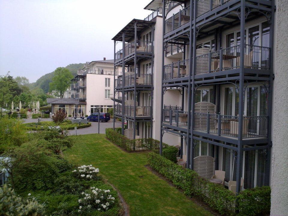 Vom Balkon zum Restaurant aus Haus 4\