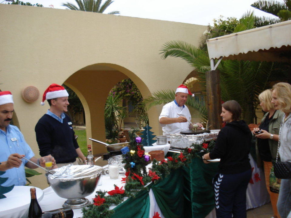 Adventskaffe am Pool Aldiana Club Djerba Atlantide