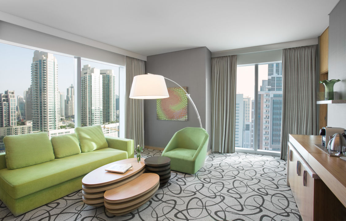 Prestige Suite Living Area Sofitel Hotel Dubai Downtown