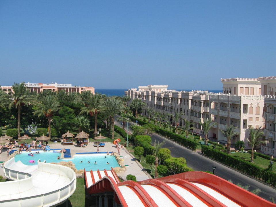 Von der Rutsche aus Beach Albatros Resort Hurghada