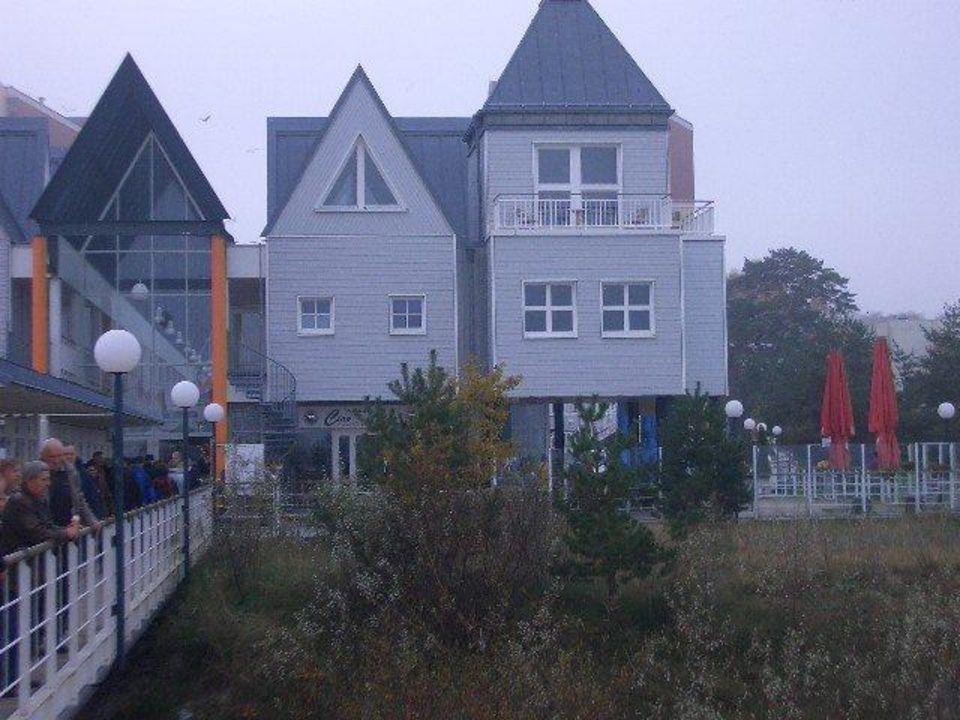 Blick von der Seebrücke aus, auf die Ferienwohnung Ferienwohnungen Kaiservillen - Ferienwohnungen Seebrücke