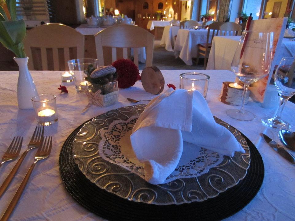 Tischdeko Zum Candlelight Dinner Hotel Bergruh Fussen
