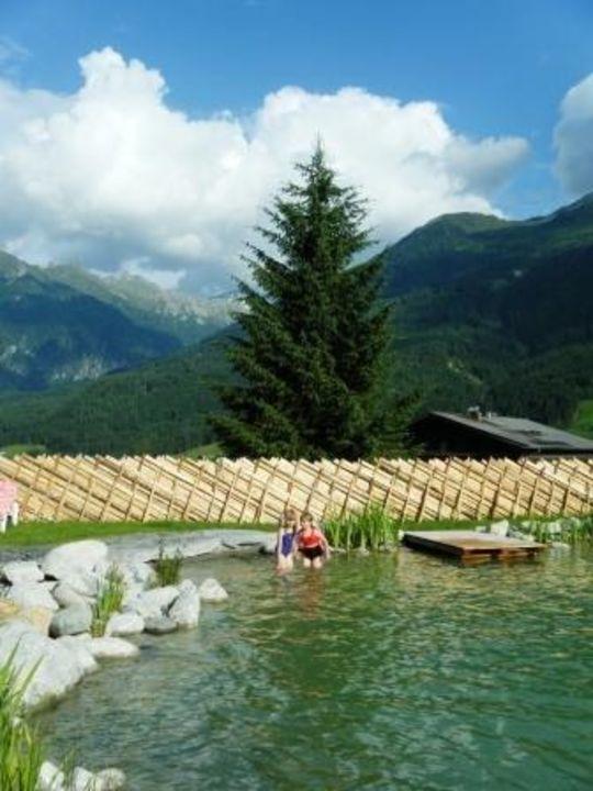 schöner Naturbadeteich Apparthotel AlpenChalet