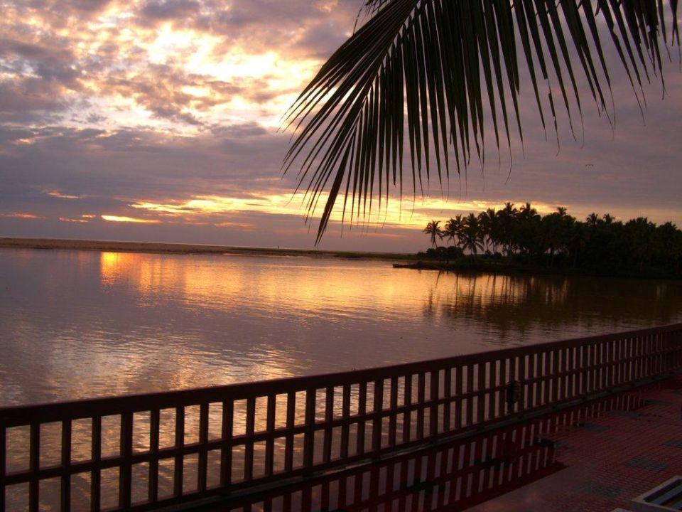 Sonnenuntergang Hotel Estuary Island