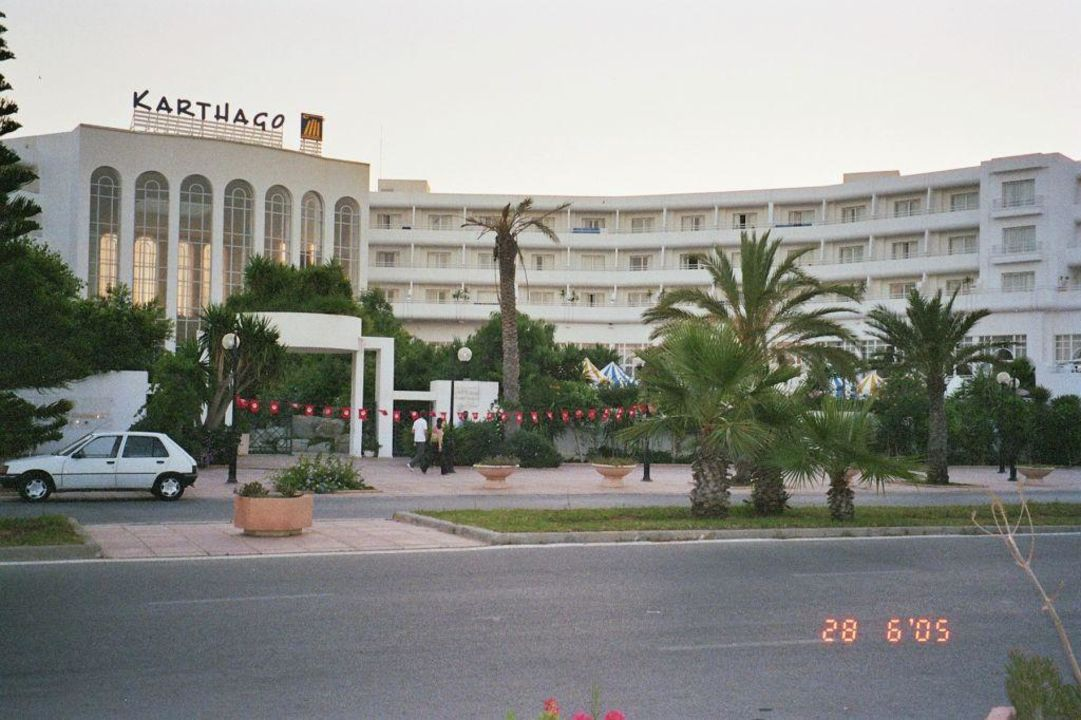Hotel Karthago Hammamet - Blick auf die Rückseite Hotel Laico Hammamet