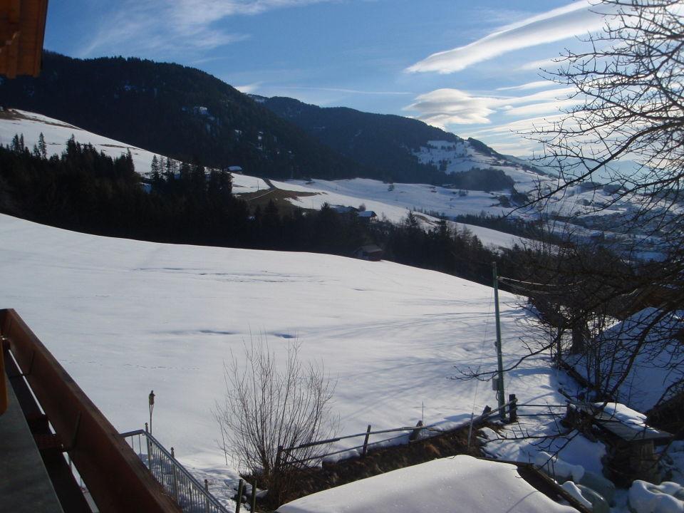 Vom Balkon die nähere Umgebung Hotel Hohenbichl