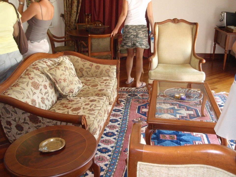 """wohnzimmer king suite"""" robinson club nobilis in belek, Wohnzimmer dekoo"""