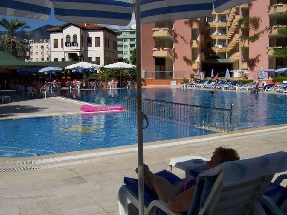 Pool und Poolbar, Animationsbühne Hotel Panorama