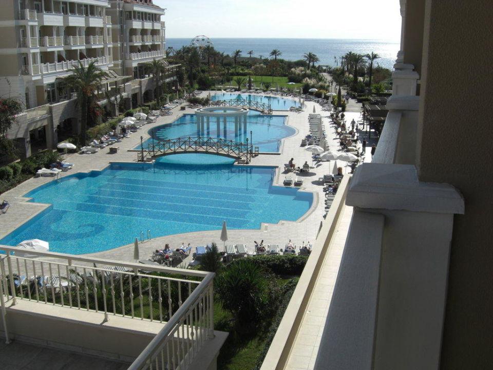 Blick von unserem Balkon Trendy Aspendos Beach Hotel