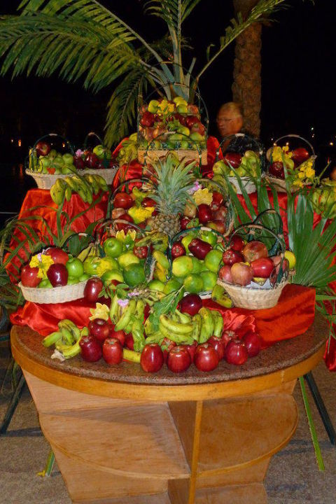 Früchte am Abendbuffet Albatros Palace Resort