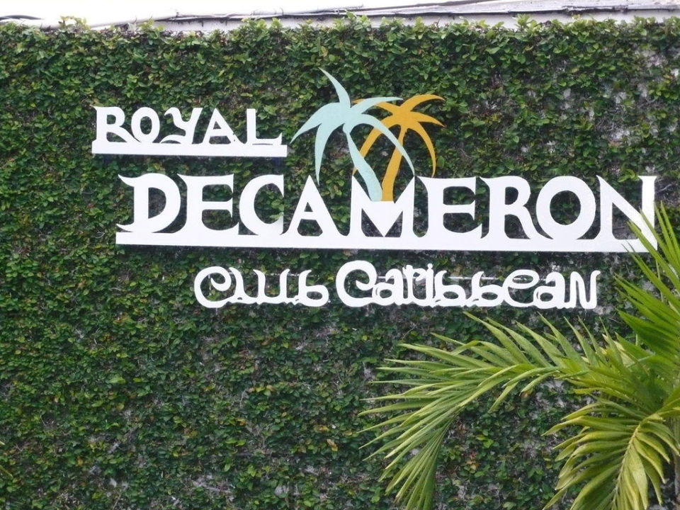 Hoteleingang Hotel Royal Decameron Club Caribbean
