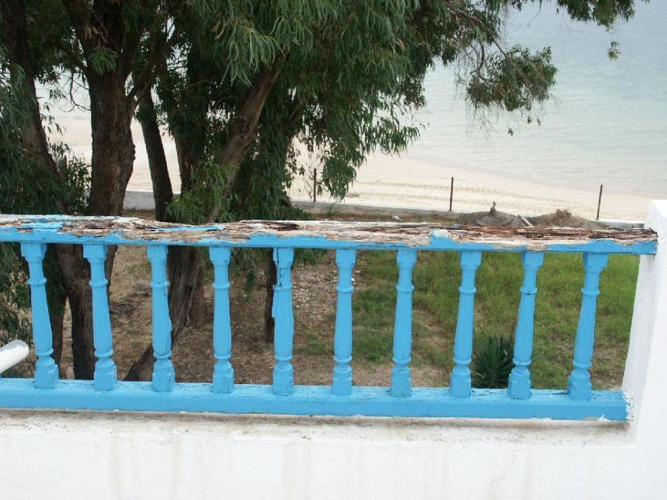 Aussicht vom Zimmer zum Strand Hotel Parc Resort