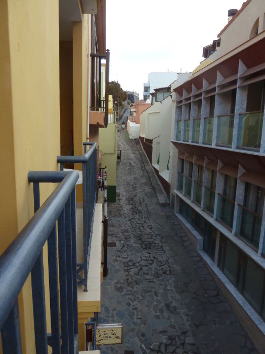 Blick vom Balkon La Hila Apartamentos