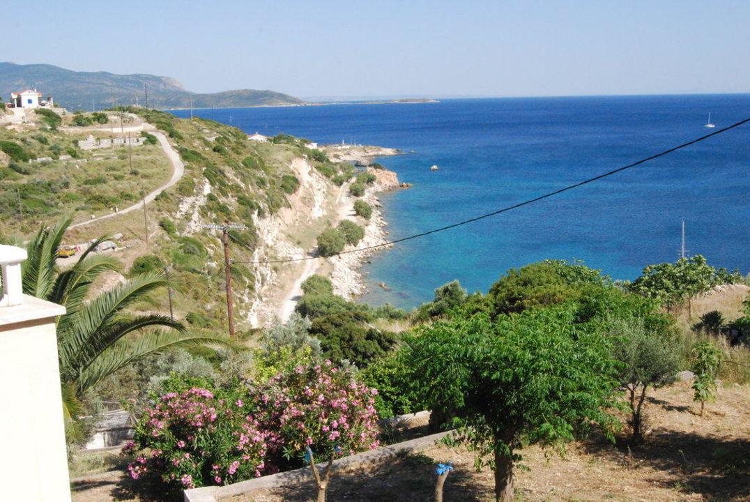Ausblick vom Balkon Hotel Kastelli