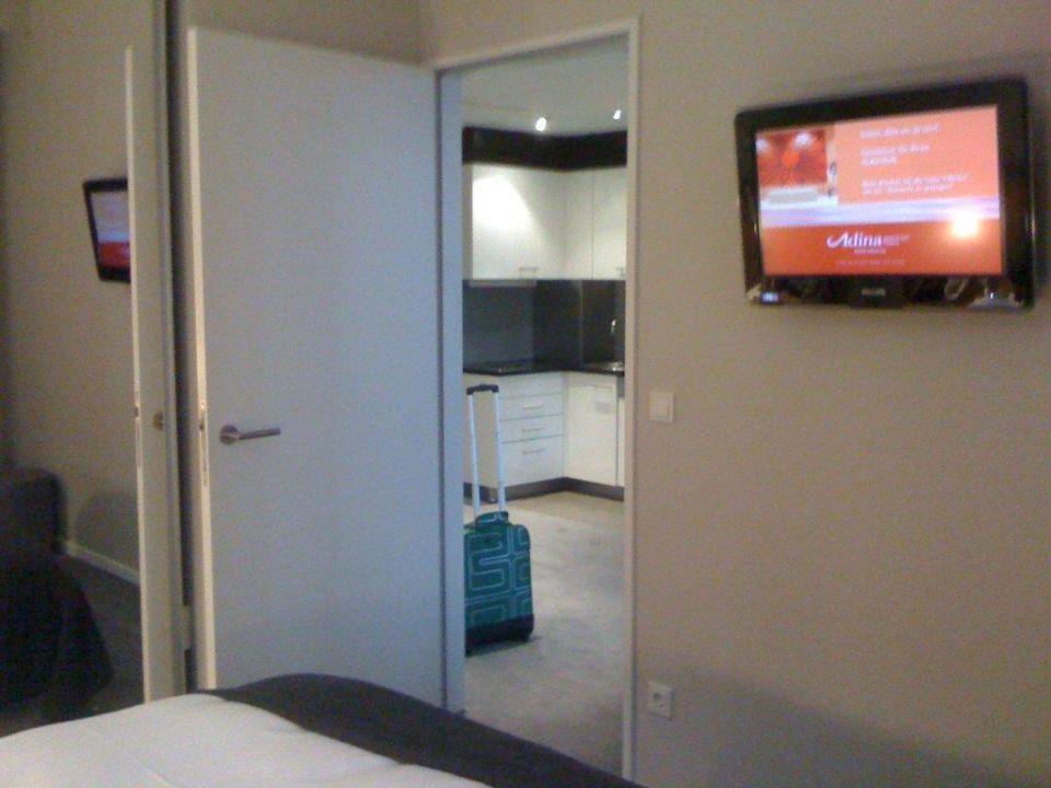 Aus dem Schlafzimmer raus Adina Apartment Hotel Frankfurt Neue Oper